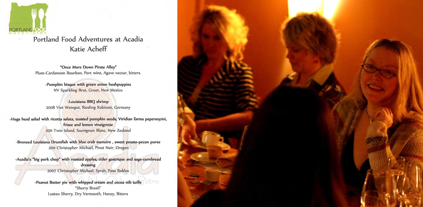 Portland Food Adventures - Acadia